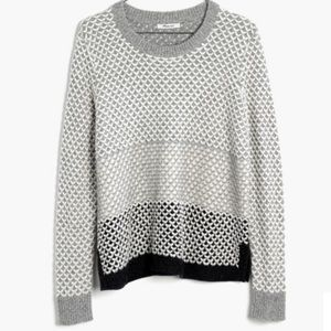 {Madewell} Geo-Block Pullover Sweater Size L